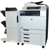 HP Color Laserjet CM6040f MFP inkl. Broschüren Finisher
