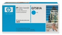 Original HP Color Laserjet Toner Q7581A cyan - Neu & OVP