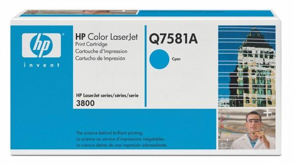 HP Color Laserjet Toner Q7581A cyan