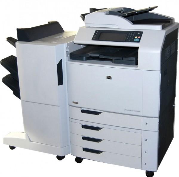 HP Color Laserjet CM66040f MFP incl. 3 Fach Stapelfach
